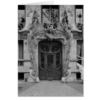 Porte d'entrée aux appartements 2 cartes