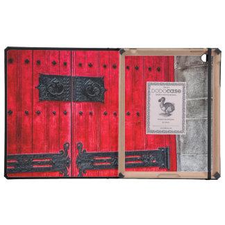 Porte en bois rustique rouge magnifique étui iPad