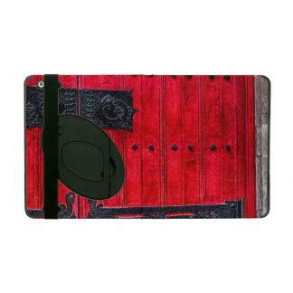 Porte en bois rustique rouge magnifique coques iPad