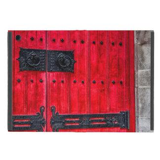 Porte en bois rustique rouge magnifique étui iPad mini