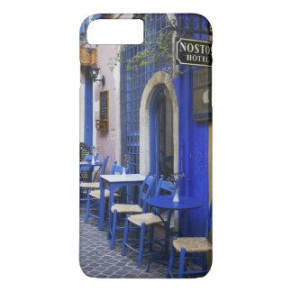 Porte et voie de garage bleues colorées au vieil coque iPhone 8 plus/7 plus