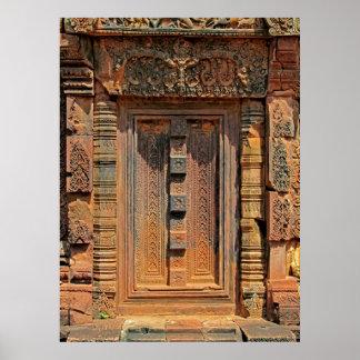 Porte fausse 1 de Chandi de temple de Banteay Srei Posters
