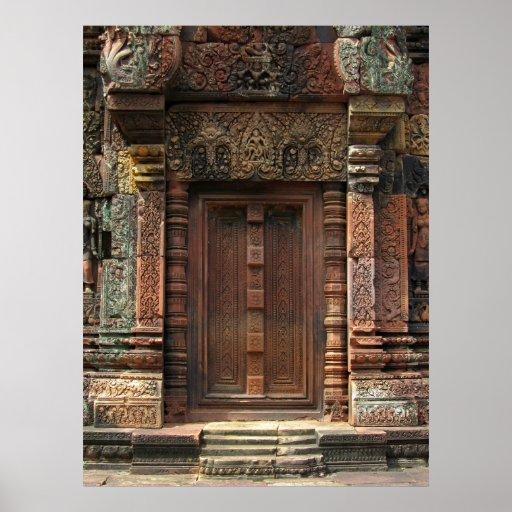 Porte fausse 2 de Chandi de temple de Banteay Srei Posters