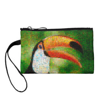 Porte-monnaie Art de collage-toucan de toucan - art de collage