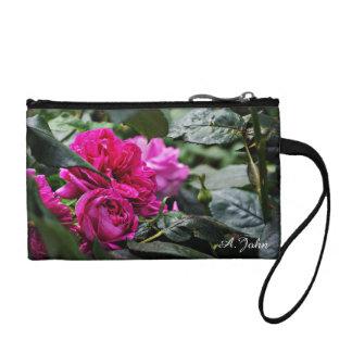 Porte-monnaie Bracelet rose de fleur de pivoine
