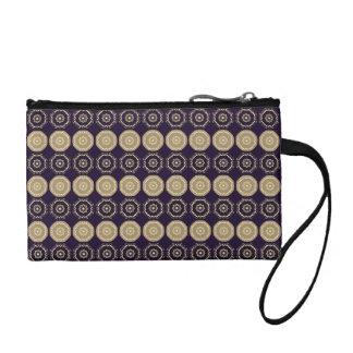 """Porte-monnaie Dark Violet motif """"Couronne"""""""