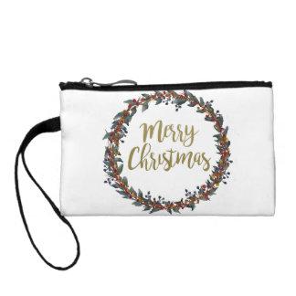 Porte-monnaie Guirlande d'aquarelle - Joyeux Noël - branches