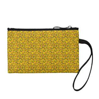 Porte-monnaie jaune à points Pop ART