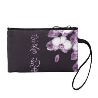 Porte-monnaie Orchidées japonaises dans la prune