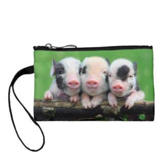 Porte-monnaie Trois petits porcs - porc mignon - trois porcs