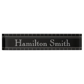 Porte-nom Pour Bureau HAMbyWG - plaque d'identification de bureau -
