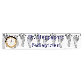 Porte-nom Pour Bureau Le pied de bébé imprime la plaque signalétique de