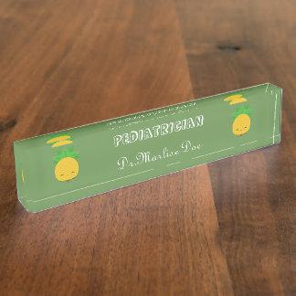 Porte-nom Pour Bureau Plaque signalétique verte faite sur commande de