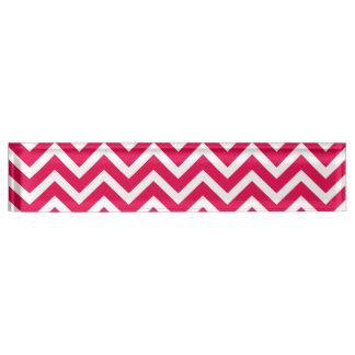 Porte-nom Pour Bureau Zigzag rose et blanc de rouge à lèvres de Chevron