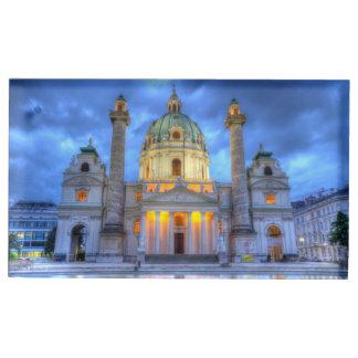 Porte-numéro De Table L'église de Charles de saint à Vienne, Autriche