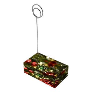Porte-numéro De Table Lumières de Joyeux Noel de porte-cartes de Tableau
