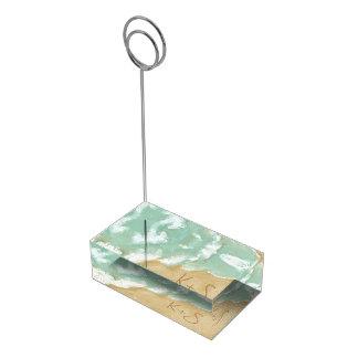 Porte-numéro De Table Mariage de plage avec le porte-cartes de Tableau