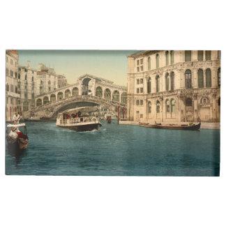 Porte-numéro De Table Pont de Rialto et canal grand, Venise, Italie