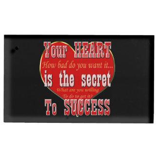 Porte-numéro De Table Votre coeur est le secret au succès