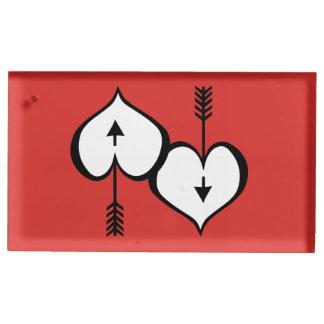 Porte-numéro De Table Vous aimant porte-cartes blanc de Tableau de coeur
