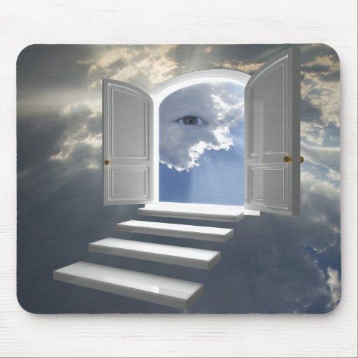 Porte ouverte sur un oeil mystique tapis de souris zazzle for Porte ouverte dessin