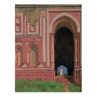 Porte près de Kutub-Minar, vieux Delhi, 1875 Carte Postale