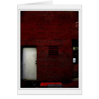 Porte rouge carte de vœux
