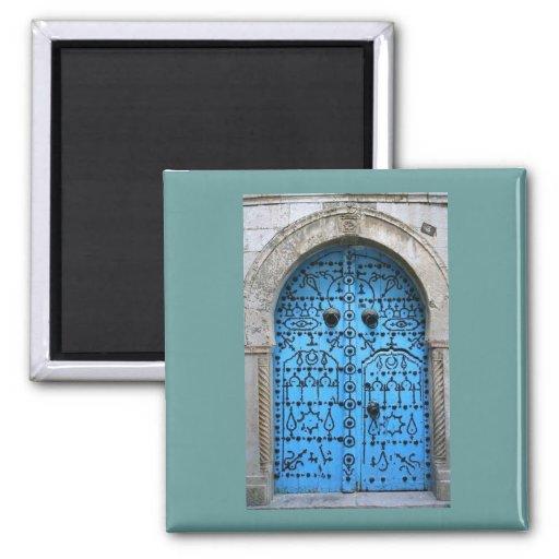 Porte traditionnelle tunisienne vintage aimant pour réfrigérateur
