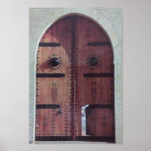 porte traditionnelle vintage de la tunisie posters zazzle. Black Bedroom Furniture Sets. Home Design Ideas