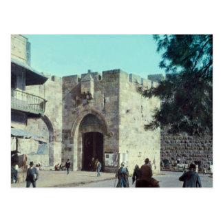 Porte vintage Jérusalem Israël 1950 - 77 de Jaffa Carte Postale