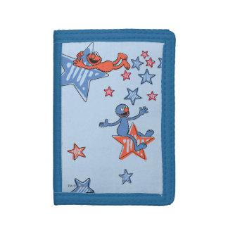 Portefeuille À 3 Volets Elmo et Grover parmi les étoiles