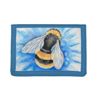 Portefeuille À 3 Volets Gaffez l'art d'aquarelle d'abeille