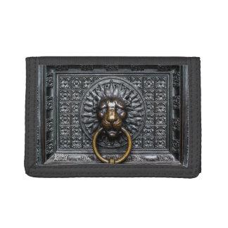 Portefeuille À 3 Volets Lion de heurtoir - noir/or