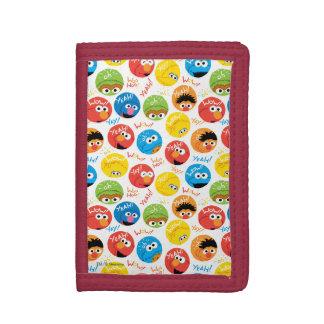 Portefeuille À 3 Volets Motif de caractère de cercle de Sesame Street