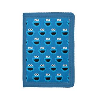 Portefeuille À 3 Volets Motif de sourire de monstre de biscuit