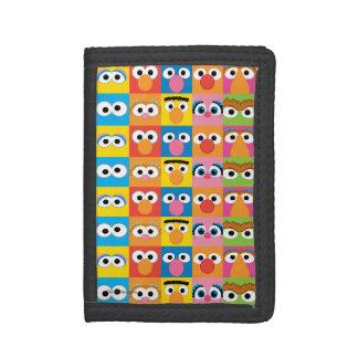 Portefeuille À 3 Volets Motif de yeux de caractère de Sesame Street