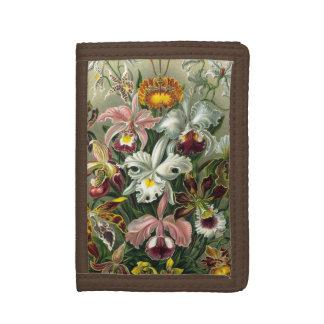 Portefeuille À 3 Volets Orchidées d'Ernst Haeckel, fleurs vintages de