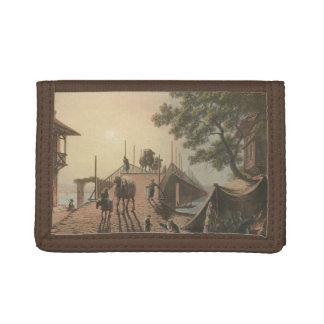 Portefeuille À 3 Volets Ponte de petite flûte, petit pont dans le village