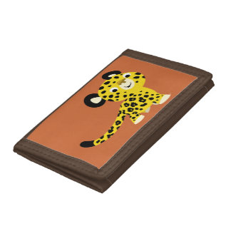 Portefeuille amical de léopard de bande dessinée m