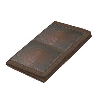 Portefeuille avec la conception en bois foncée