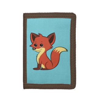 Portefeuille bleu-clair de Fox de bande dessinée