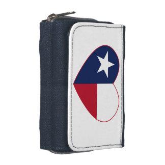 Portefeuille Coeur de drapeau du Texas