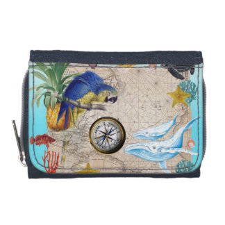 Portefeuille Collage bleu tropical