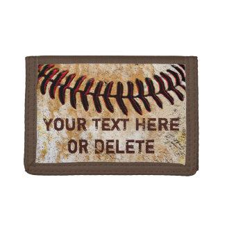 Portefeuille de base-ball personnalisé par cru bon