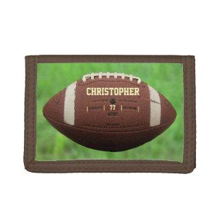 Portefeuille de boule de football américain ou de