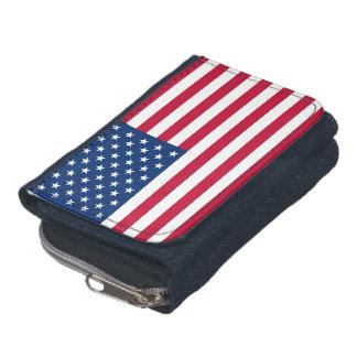 Portefeuille de drapeau américain avec la bourse