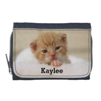 Portefeuille de filles personnalisé par chaton mig