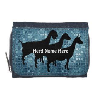 Portefeuille de nom de troupeau de chèvre de