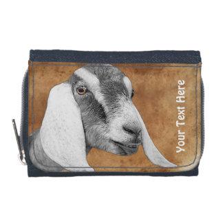 Portefeuille de photo de chèvre de Nubian