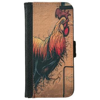 Portefeuille de téléphone de poulet de mur